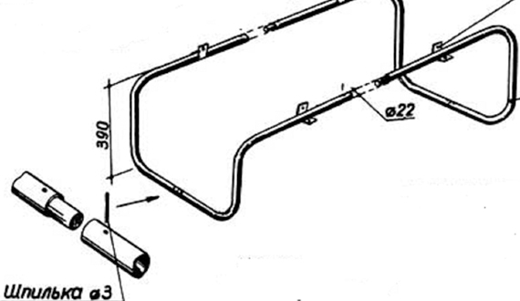 Стол на металлической раме