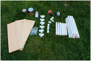 PVC pipe shelves made by yourself: ideas for current devices: easy and economical