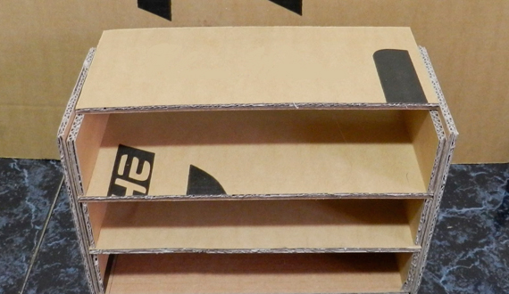 Rack for handmade cardboard shoes: step-by-step assembly instructions