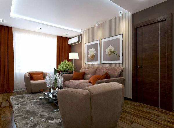 Новые идеи дизайна гостиной в квартире 18 кв.м с фото