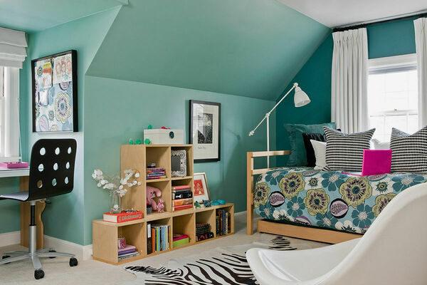 Дизайн комнаты для девочки-подростка в современном стиле