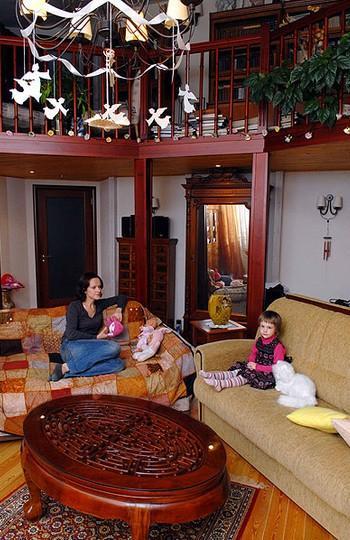 Двухуровневая квартира Галибина на Патриарших Прудах с собственным дизайном