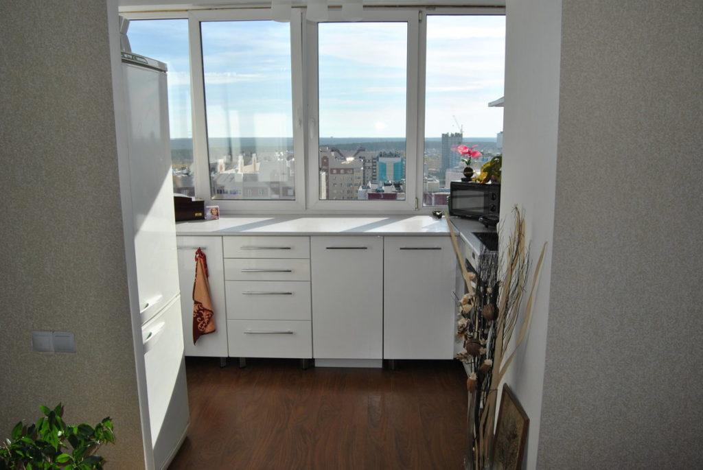 кухня на балконе или лоджии фото дизайн избавиться шишки ноге
