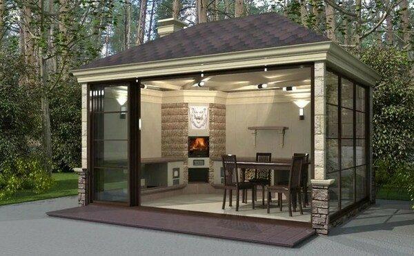 Как построить летнюю кухню на даче своими руками