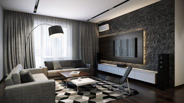 Модный интерьер гостиной 2019-2020
