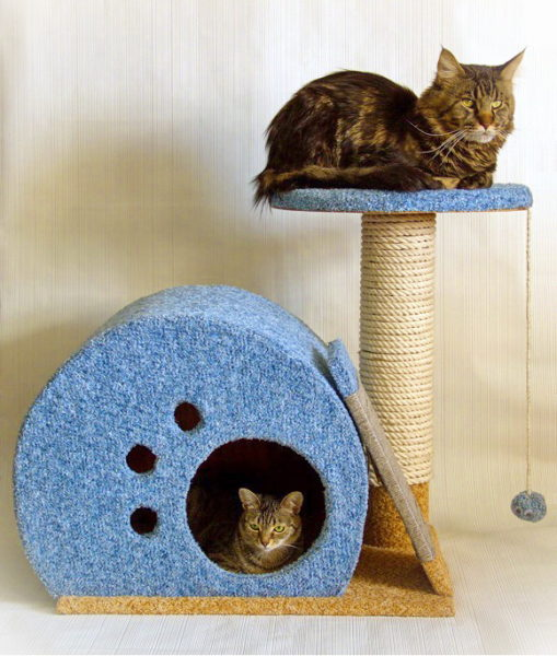 Как сделать домик для кошки из картонной коробки — пошаговая инструкция
