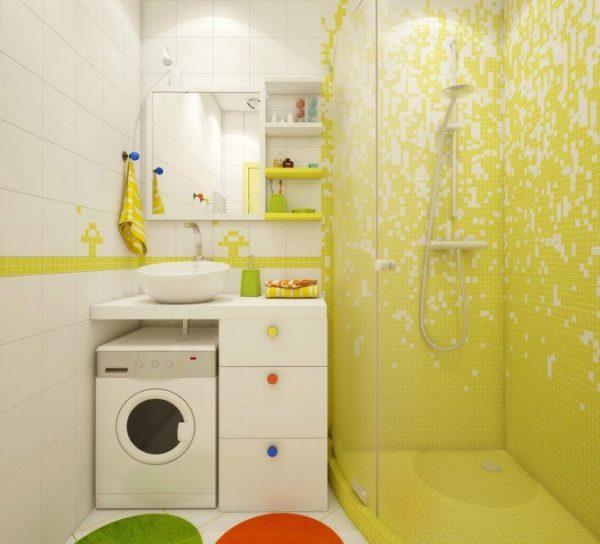 Дизайн и планировка ванной комнаты без ванны в современном стиле — идеи с фото