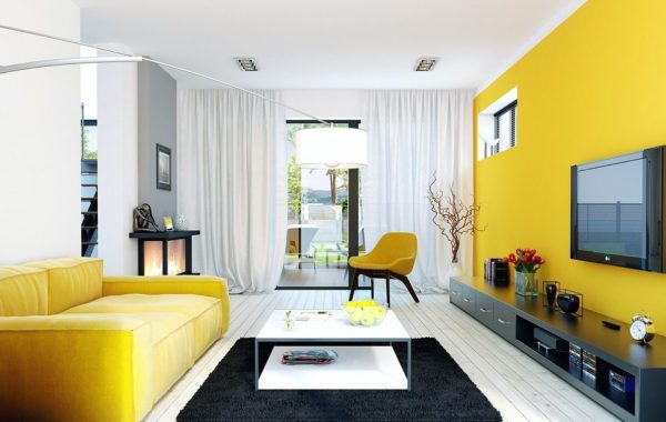 Дизайн гостиной в светлых тонах