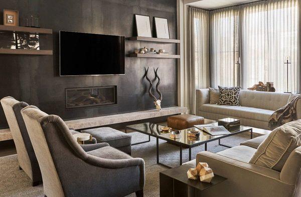 Как современно оформить гостиную с камином в квартире