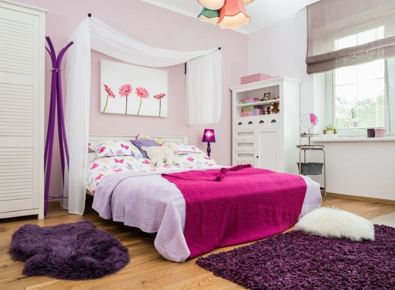 Дизайн комнаты для девочки-подростка 14 лет в современном стиле