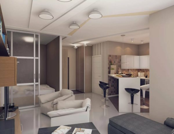 Идеи для квартиры-студии — интерьер и планировка 30 кв. м