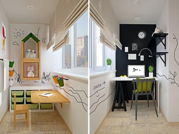 Удачные варианты дизайна студии 30 квадратов