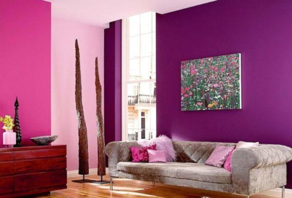 Как подобрать обои в зал двух цветов (фото) и сделать её большой