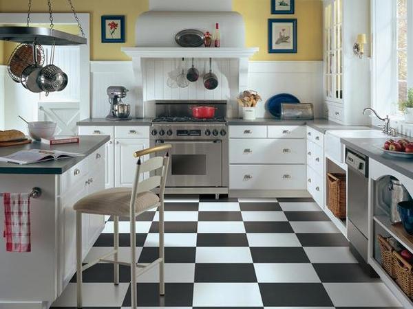 Советы по выбору плитки на пол в кухню и коридор