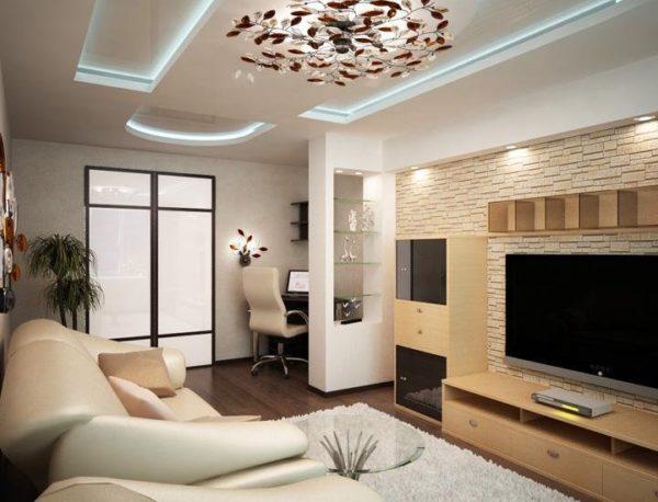 Дизайн гостиной комнаты 20 кв.м в современном стиле