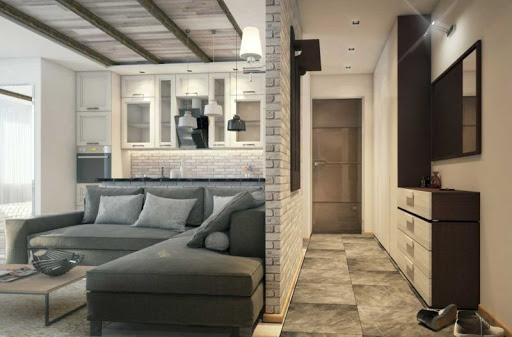 Интерьер и планировка квартиры-студии 40 кв. м