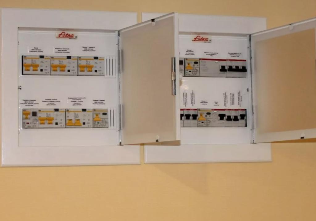 Поверхности для монтажа встраиваемых электрощитков
