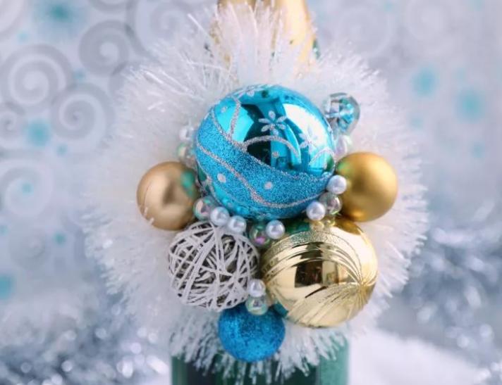 Как красиво украсить бутылку шампанского на Новый год 2021 своими руками