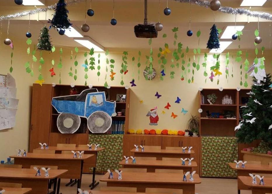 Как красиво украсить класс на Новый год 2021 в школе своими руками
