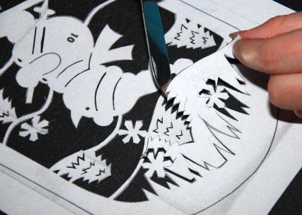 Вытынанки на окна на Новый год 2021 для вырезания из бумаги своими руками
