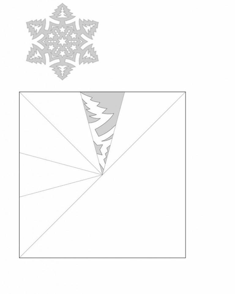 вырезать снежинки по готовому шаблону