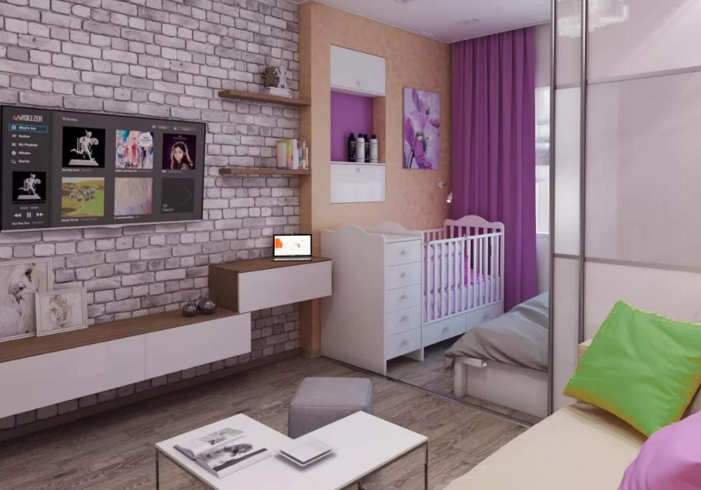 Идеи дизайна однокомнатной квартиры площадью 40 кв. м.